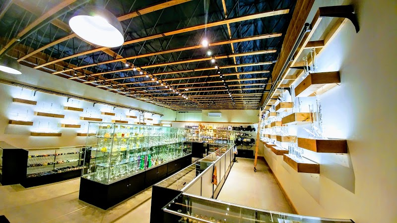 Blazing Blue Honeycomb 14mm Slide - Emerald | NVS Glassworks